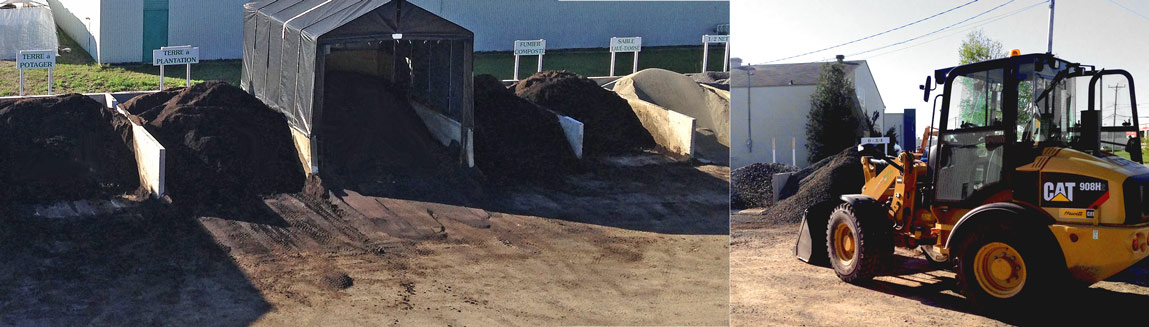 Terre gravier sable et pierres en vrac