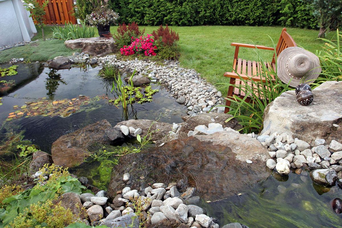 jardin d'eau design paysagiste, Aménagement paysager Lévis Québec, Bergeron Paysagiste