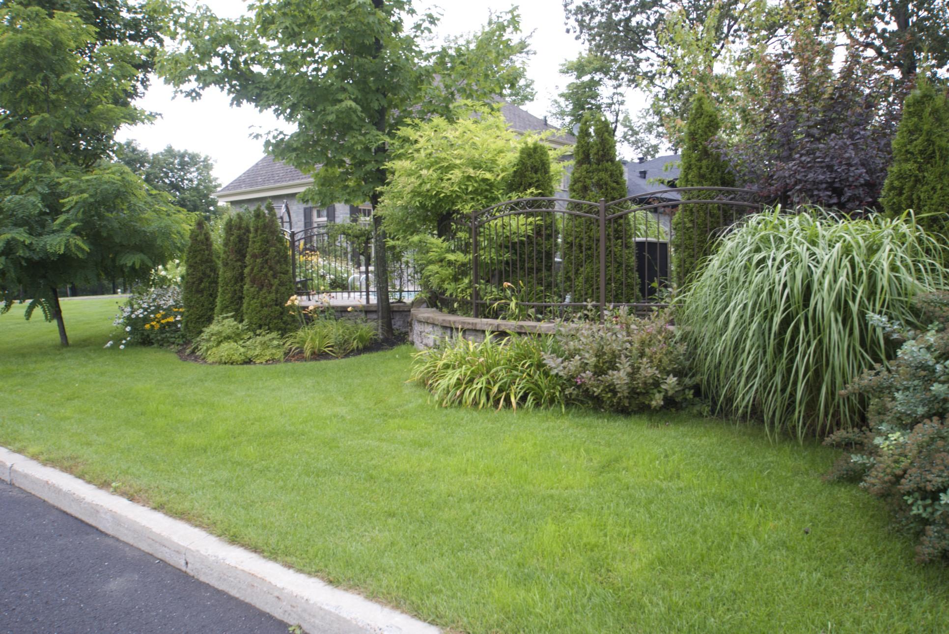 instalation de plate-bande paysagement vegetal