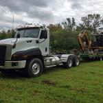 camion et Excavatrice Paysagiste Bergeron